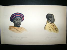 Abyssinia Natives: 1855 Hand Col Print. Prichard
